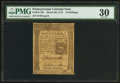 Colonial Notes:Pennsylvania, Pennsylvania March 20, 1773 16s PMG Very Fine 30.. ...