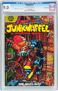 Junkwaffel #1 Haight-Ashbury pedigree (Print Mint, 1971) CGC VF/NM 9.0 Off-white to white pages