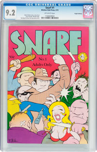 Snarf #1 Haight-Ashbury pedigree (Kitchen Sink, 1972) CGC NM- 9.2 Off-white pages