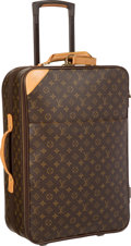 """Luxury Accessories:Travel/Trunks, Louis Vuitton Classic Monogram Canvas Pegase 55 Suitcase. VeryGood Condition. 14.5"""" Width x 22"""" Height x 7.5"""" Depth..."""