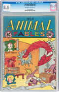 Golden Age (1938-1955):Funny Animal, Animal Fables #4 (EC, 1947) CGC VF+ 8.5 Off-white to whitepages....