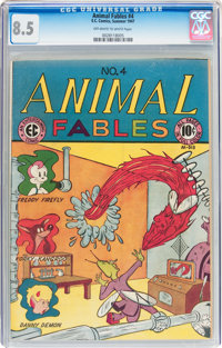 Animal Fables #4 (EC, 1947) CGC VF+ 8.5 Off-white to white pages