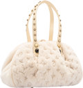 "Luxury Accessories:Bags, Louis Vuitton Limited Edition White Monogram Mink Demi Lune PM Bag. Excellent Condition. 11"" Width x 6"" Height x 5.5"" ..."