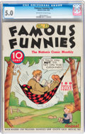 Platinum Age (1897-1937):Miscellaneous, Famous Funnies #13 (Eastern Color, 1935) CGC VG/FN 5.0 Off-white towhite pages....