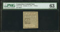 Colonial Notes:Connecticut, Connecticut October 11, 1777 7d PMG Choice Uncirculated 63.. ...