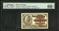 Miscellaneous:Other, World's Columbian Exposition Columbus Ticket 1893 PMG GemUncirculated 66 EPQ.. ...