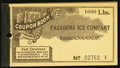 Miscellaneous:Other, Pasadena, CA- Pasadena Ice Company 1000 Pound Ice Coupon BookletND. ...