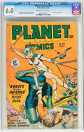 Golden Age (1938-1955):Science Fiction, Planet Comics #54 (Fiction House, 1948) CGC FN 6.0 Cream tooff-white pages....