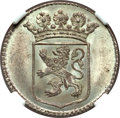 Netherlands East Indies, Netherlands East Indies: United East India Company silver Duit 1758MS66 NGC,...