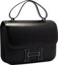 Luxury Accessories:Bags, Hermes 29cm Black Calf Box Leather Double Gusset Constance Cartable Bag with Palladium Hardware. Excellent Condition. ...