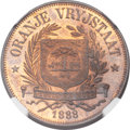 South Africa: Orange Free State. Republic Proof Pattern Penny 1888 PR66 Red and Brown NGC