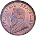 South Africa: Republic Penny 1892 MS65 Red and Brown NGC