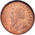 South Africa: Republic Penny 1892 MS65 Red NGC