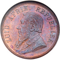 South Africa: Republic Penny 1894 MS64 Brown NGC