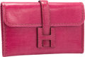 "Luxury Accessories:Bags, Hermes Fuchsia Lizard Jige PM H Clutch Bag. Very Good toExcellent Condition. 8"" Width x 5"" Height x .5"" Depth. ...."
