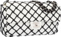 "Luxury Accessories:Bags, Chanel White Lambskin Leather Jumbo Canebiers Flap Bag with SilverHardware. Excellent to Pristine Condition. 12""Widt..."