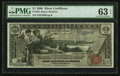 Large Size:Silver Certificates, Fr. 225 $1 1896 Silver Certificate PMG Choice Uncirculated 63 EPQ.. ...