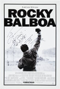 "Movie/TV Memorabilia:Posters, Rocky Balboa (Columbia Pictures, 2006). Signed One Sheet Movie Poster (27"" X 40""). ..."