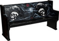 "Movie/TV Memorabilia:Props, A Wooden Bench from ""The Expendables.""..."