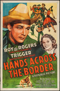 "Movie Posters:Western, Hands Across the Border (Republic, 1944). One Sheet (27"" X 41""). Western.. ..."