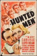"Movie Posters:Crime, Hunted Men (Paramount, 1938). One Sheet (27"" X 41""). Crime.. ..."
