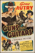"""Movie Posters:Western, Guns and Guitars (Republic, R-1945). One Sheet (27"""" X 41""""). Western.. ..."""