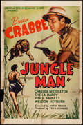 "Movie Posters:Adventure, Jungle Man (PRC, 1941). One Sheet (27"" X 41""). Adventure.. ..."