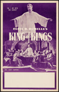 "Movie Posters:Historical Drama, The King of Kings & Other Lot (Pathé, R-1950s). Window Card(14"" X 22"") and Lobby Card Set of 8 (11"" X 14""). Historical Dram...(Total: 9 Items)"