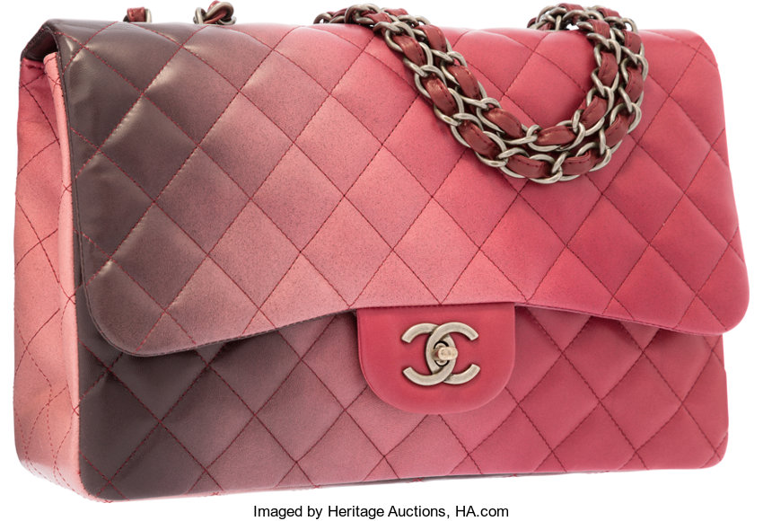 ... Luxury Accessories Bags, Chanel Red  amp  Black Ombre Quilted Lambskin Leather  Jumbo SingleFlap ... 1f4a17deee