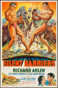 """Movie Posters:Action, Silent Barriers (Gaumont, 1937). One Sheet (27"""" X 41"""") Style B.Action.. ..."""