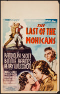 "Movie Posters:Adventure, The Last of the Mohicans (United Artists, 1936). Window Card (14"" X22""). Adventure.. ..."