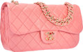 Luxury Accessories:Bags, Chanel Metallic Pink Quilted Lambskin Leather Single Flap Bag withGold Gripoix Hardware. Excellent to Pristine Condition...
