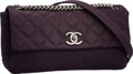 Luxury Accessories:Bags, Chanel Purple Quilted Sueded Caviar Leather Medium Flap Bag withSilver Hardware. Excellent to Pristine Condition.10....