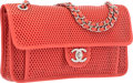 Luxury Accessories:Bags, Chanel Red Perforated Lambskin Leather Up in the Air Flap Bag with Silver Hardware. Excellent to Pristine Condition. 1...