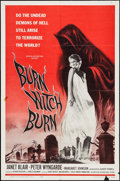 "Movie Posters:Horror, Burn, Witch, Burn! (American International, 1962). One Sheet (27"" X 41""). Horror.. ..."