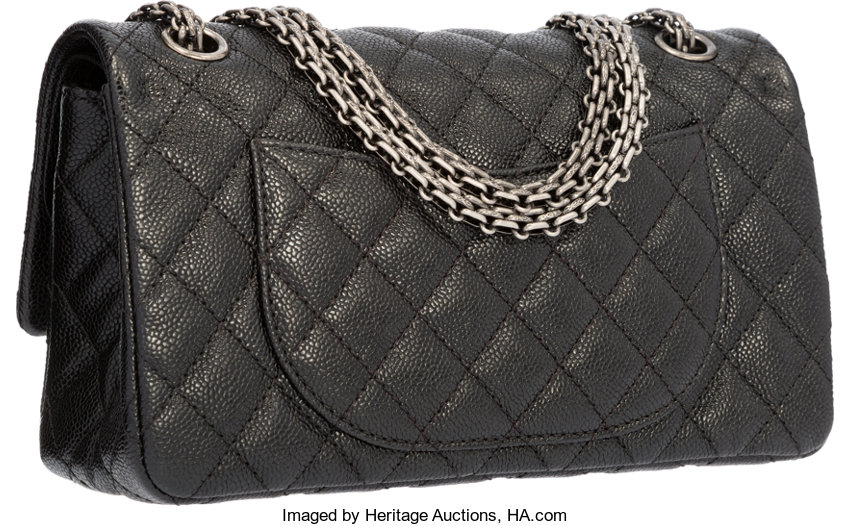 b3ee83fda16b Chanel Black Quilted Caviar Leather Reissue Medium Double Flap | Lot #58285  | Heritage Auctions