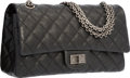"Luxury Accessories:Bags, Chanel Black Quilted Caviar Leather Reissue Medium Double Flap Bag with Gunmetal Hardware. Excellent Condition. 9.5"" W..."