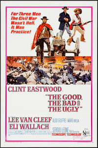 "The Good, the Bad and the Ugly (United Artists, 1968). One Sheet (27"" X 41""). Western"