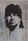 "Movie/TV Memorabilia:Memorabilia, An Oversized Metal Stencil from ""Rambo"" (aka ""Rambo 4"")...."