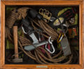 "Movie/TV Memorabilia:Props, A Shadowbox of Props from ""Cliffhanger.""..."