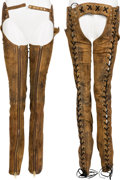 Music Memorabilia:Costumes, Mötley Crüe -- A Tommy Lee Pair of Chaps (Circa 1989)....