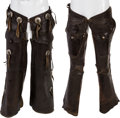 Movie/TV Memorabilia:Costumes, A Group of Leather Riding Chaps....