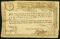 Colonial Notes:Massachusetts, Massachusetts Treasury Certificate 6% Class the Fourth £15 February5, 1780 Anderson MA-16 Very Fine.. ...