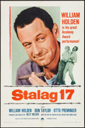 """Movie Posters:War, Stalag 17 (Paramount, R-1959). One Sheet (27"""" X 41"""") & LobbyCards (7) (11"""" X 14""""). War.. ... (Total: 8 Items)"""