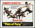 "Movie Posters:Action, Fists of Fury (National General, 1973). Half Sheet (22"" X 28"")& Mini Lobby Cards (6) (8"" X 10""). Action.. ... (Total: 7Items)"