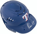 Baseball Collectibles:Hats, Nolan Ryan Signed Texas Rangers Batting Helmet....