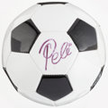 Miscellaneous Collectibles:General, Pele Signed Soccer Ball....