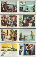 """Movie Posters:Adventure, The Adventures of Huckleberry Finn & Others Lot (MGM, 1960).Lobby Card Set of 8 (11"""" X 14""""), Three Sheets (2) (41"""" X 78"""",41...(Total: 11 Items)"""