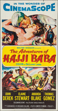 "The Adventures of Hajji Baba & Others Lot (20th Century Fox, 1954). Three Sheets (3) (41"" X 78"", 41""..."