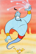 Animation Art:Production Drawing, Scott Rosema - Genie from Aladdin Illustration Original Art(c. 2000s)....